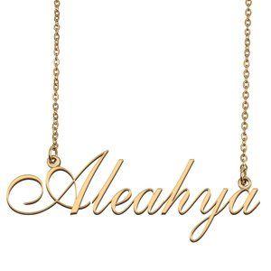 Custom Personalized Aleahya Name Necklace